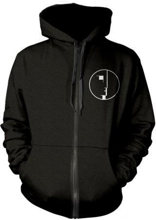Bauhaus Logo Hooded Sweatshirt with Zip S pánské Black S