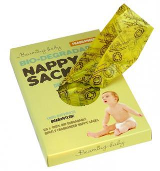 BEAMING BABY Sáčky na plenky s vůní, 60 ks žlutá