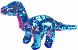 Beanie Boos Flippables TREMOR - růžovo-modrý dinosaurus 24 cm