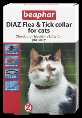Beaphar Diaz antiparazitický obojek pro kočky 35cm