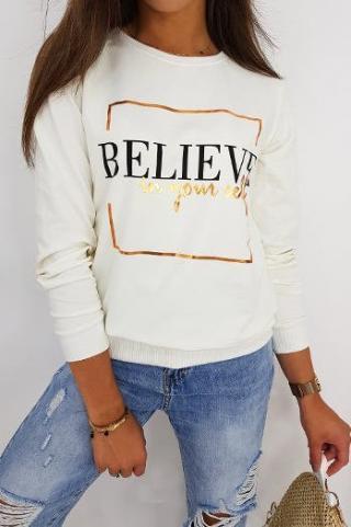 BELIEVE womens sweatshirt ecru BY0518 dámské Neurčeno One size