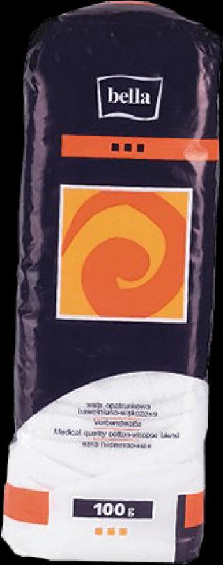 BELLA Vata obvazová bavlněná-viskózní 100 g bílá