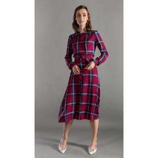 Benedict Harper Womans Dress Minnie dámské Multicoloured Grid 38