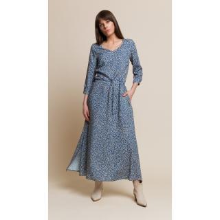 Benedict Harper Womans Dress Nancy Floral/Blue dámské Floral Blue 34