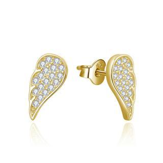 Beneto Pozlacené náušnice Andělská křídla AGUP2610-GOLD dámské