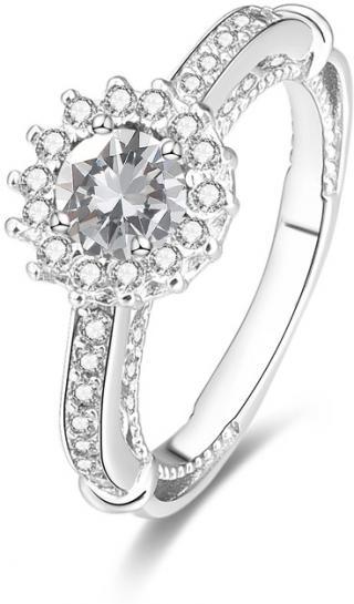 Beneto Stříbrný prsten s krystaly AGG185 50 mm dámské