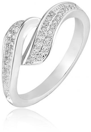 Beneto Stříbrný prsten s krystaly AGG209 52 mm dámské
