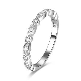 Beneto Stříbrný prsten se zirkony AGG167 62 mm dámské