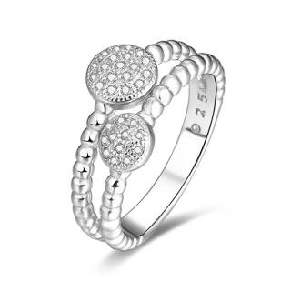 Beneto Stříbrný prsten se zirkony AGG335 52 mm dámské