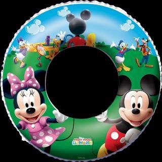 BESTWAY Nafukovací kruh - Disney Mickey Mouse a Minnie, průměr 56 cm zelená