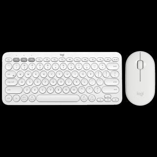 Bezdrátová bluetooth klávesnice s myší Barva: bílá