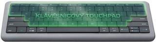 Bezdrátová klávesnice dotyková klávesnice prestigio click&touch, en, šedá