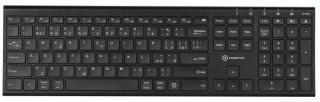 Bezdrátová klávesnice klávesnice powerton ultraslim, cz/sk, bezdrátová, černá