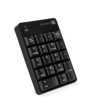 Bezdrátová klávesnice numerická bezdrátová klávesnice connect it numcalc, černá