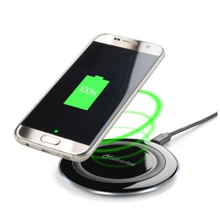 Bezdrátová nabíječka Cellularline WIRELESSPAD, Qi standard, černá
