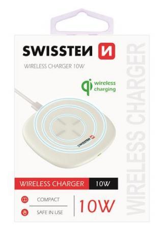 Bezdrátová nabíječka Swissten Wireles 10W, bílá