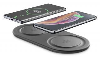 Bezdrátová QI stanice Cellularline Wireless Fast Charger Dual, 2 x 10W, černá