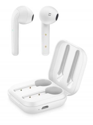 Bezdrátová sluchátka Cellularline Java s dobíjecím pouzdrem bílá