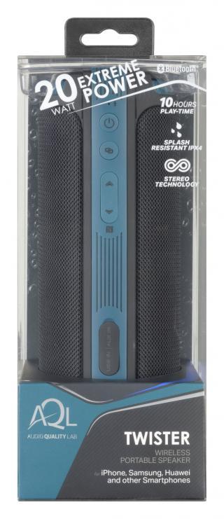 Bezdrátový reproduktor CellularLine Twister, 360° zvuk 20 W, AQL® černý