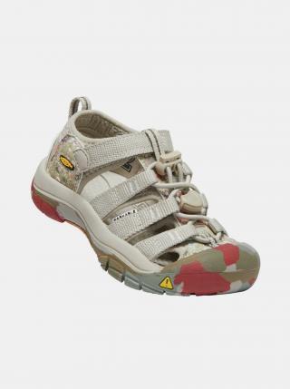 Béžové dětské vzorované sandály Keen béžová 24