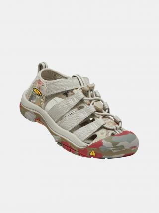 Béžové dětské vzorované sandály Keen béžová 32-33