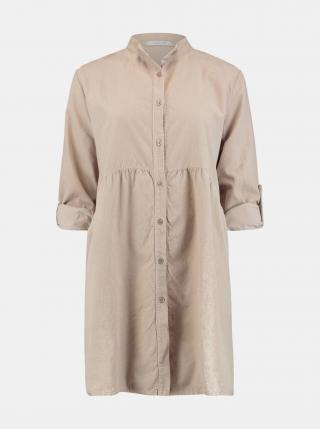 Béžové košilové šaty Hailys dámské béžová M