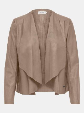 Béžové koženkové sako ONLY Liana dámské béžová M