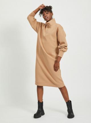 Béžové mikinové šaty .OBJECT dámské béžová XS