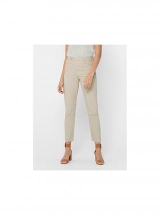 Béžové straight fit džíny ONLY Emily dámské béžová XL