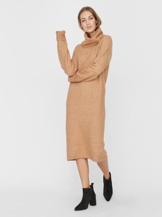 Béžové svetrové šaty VERO MODA Gaiva dámské béžová S