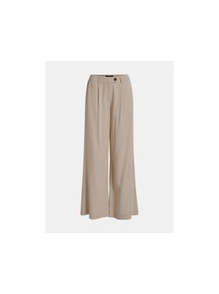 Béžové volné kalhoty Object dámské béžová L