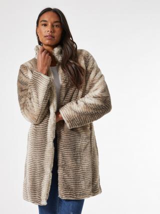 Béžový kabát z umělého kožíšku Dorothy Perkins dámské béžová S