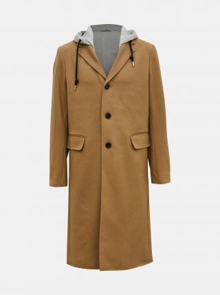 Béžový pánský vlněný kabát Diesel pánské béžová XS