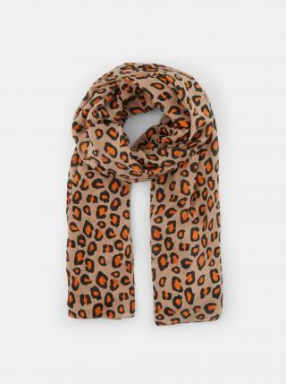 Béžový šátek s leopardím vzorem Pieces Avonja dámské béžová