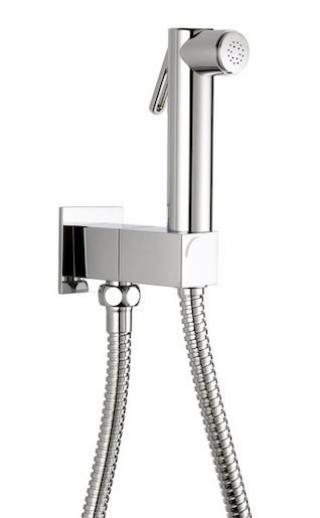 Bidetová sprška Optima Cube Way s držákem sprchy a sprchovou hadicí chrom 553753 chrom chrom
