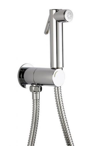 Bidetová sprška Optima Montanaro s držákem sprchy a sprchovou hadicí chrom 332401 chrom chrom