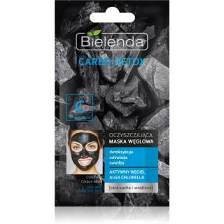 Bielenda Carbo Detox Active Carbon čisticí maska s aktivním uhlím pro suchou až citlivou pleť 8 g dámské 8 g