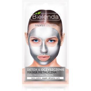 Bielenda Metallic Masks Silver Detox detoxikační a čisticí maska pro mastnou a smíšenou pleť 8 g dámské 8 g