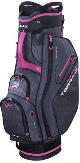 Big Max Terra X Cart Bag Charcoal/Black/Fuchsia Grey