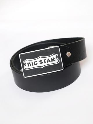 Big Star Mans Belt 174237 -906 pánské Black XL/100 cm