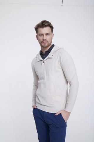 Big Star Mans Hooded Sweater 161992 -800 pánské Gold XL