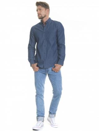 Big Star Mans Longsleeve Shirt 141673 -400 pánské Medium Jeans L