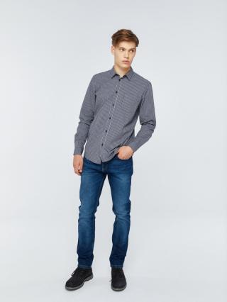 Big Star Mans Longsleeve Shirt 141718 Light -404 pánské Blue L