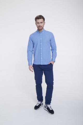 Big Star Mans Longsleeve Shirt 141729 -401 pánské Blue S