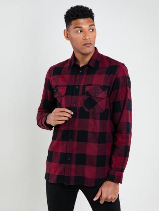 Big Star Mans Longsleeve Shirt 141748 -603 pánské Red S