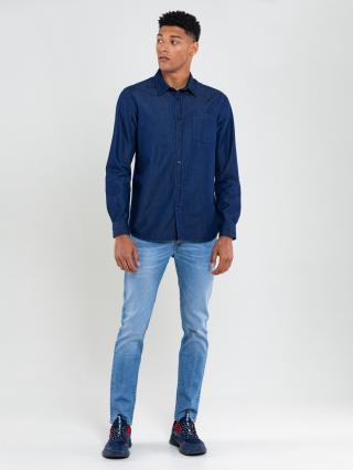 Big Star Mans Longsleeve Shirt 141753 -500 pánské Dark Jeans S