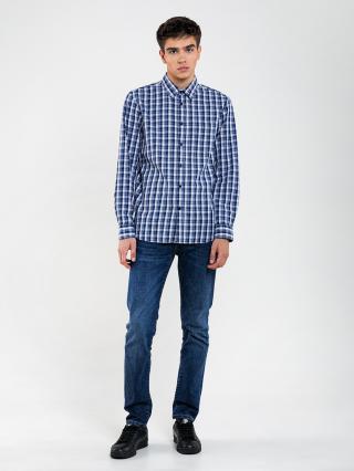 Big Star Mans Longsleeve Shirt 141754 -403 pánské Blue L