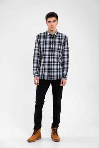 Big Star Mans Longsleeve Shirt 141755 -906 pánské Black M