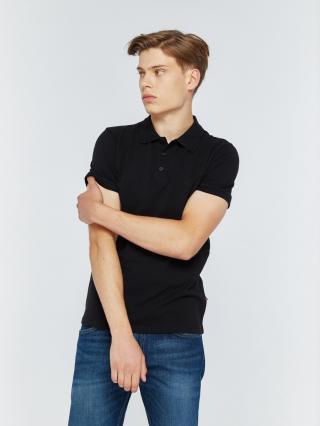 Big Star Mans Shortsleeve Polo T-shirt 152508 -906 pánské Black S