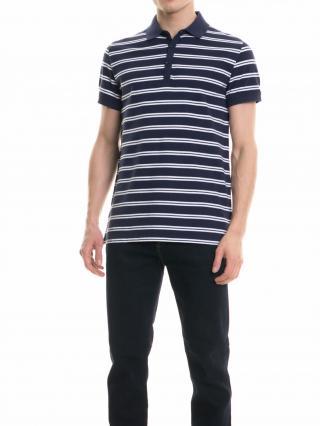 Big Star Mans Shortsleeve Polo T-shirt 154353 Navy Blue-429 pánské M